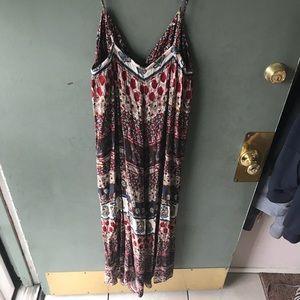 Akualani Dresses - Floral maxi dress brown, red, blue, yellow, white